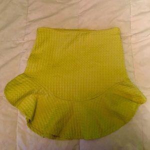 Zara TRF Trafaluc Lime Green Vibrant Skirt S Small